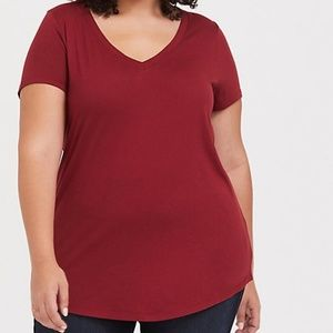 Dark Red Classic Fit Girlfriend Tee